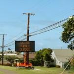 Wākea Avenue road closure, photo by Wendy Osher.