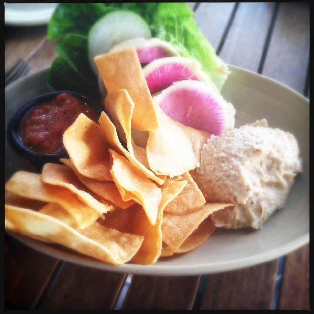 Monkeypod's Smoked Taro Hummus. Photo by Vanessa Wolf