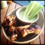 "The Wings. Beware the innocent-looking ""tzatziki"" with the celery in it. Photo by Vanessa Wolf"