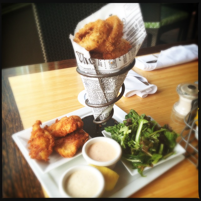 Fish and Chips (or Onion Rings in this case). Photo by Vanessa Wolf