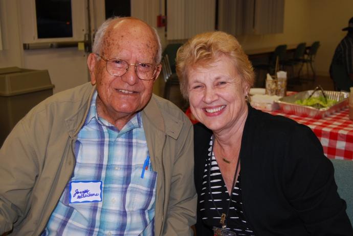 Joe Williams and Lyn McNeff.  Photo courtesy MEO.