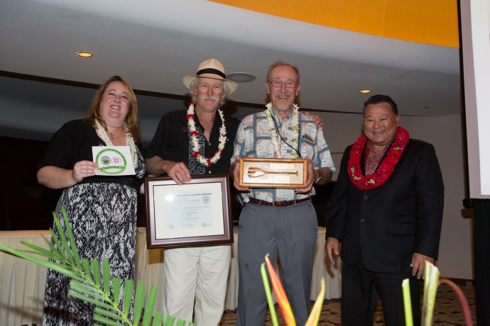 Jim & Rand Coon of Trilogy were honored with the Lifetime Achievement Award. Photo courtesy County of Maui.