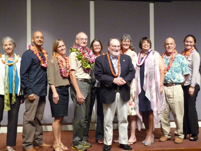 Award recipients with Governor Neil Abercrombie. Courtesy photo.