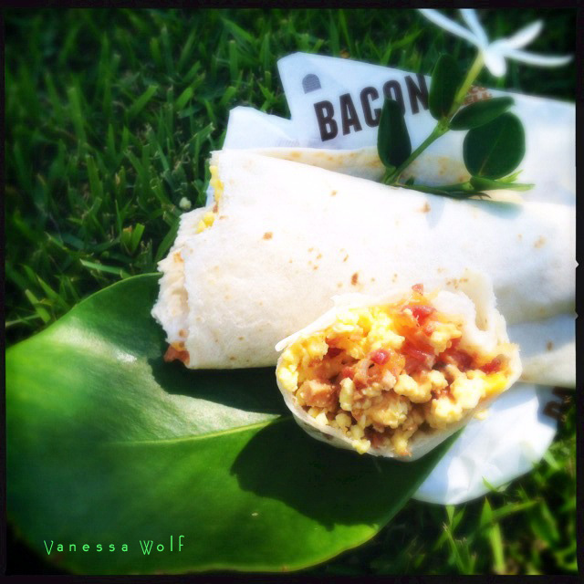 The A.M. Burrito with Bacon. Photo by Vanessa Wolf