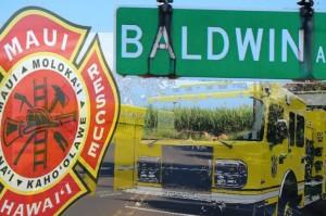 Baldwin Avenue. Brush fire Maui Now graphic.