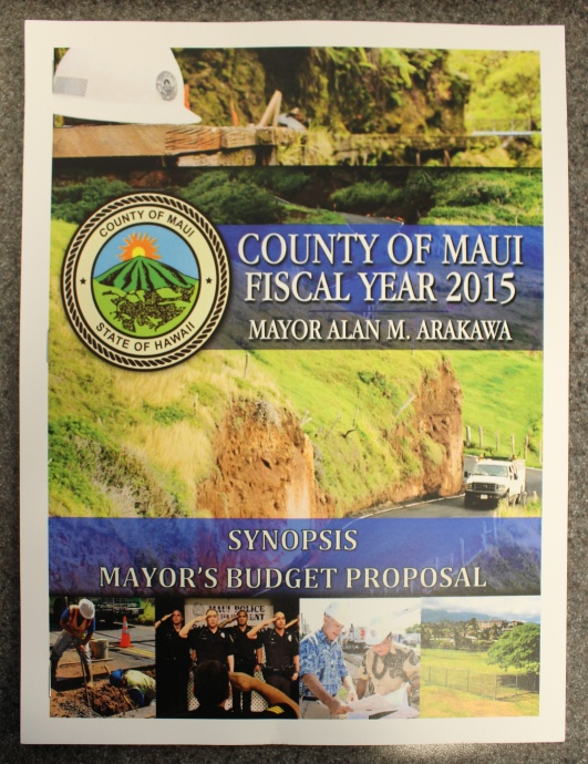 Budget proposal document.