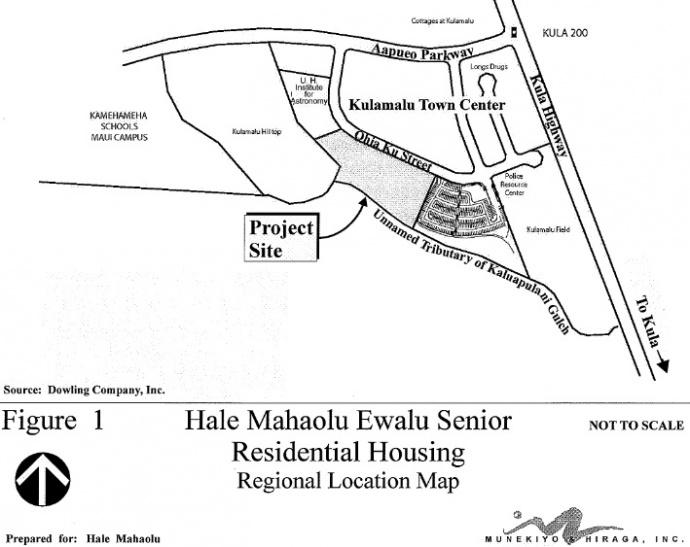 Hale Mahaʻolu ʻEwalu, site map courtesy Munekiyo & Hiraga, Office of Environmental Quality Control, State of Hawaiʻi, Draft Environmental Assessment.