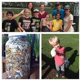 Volunteers at Keōpūolani Park collect 1,522 butts in one hour at a recent cleanup event.