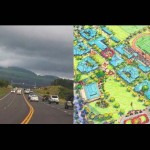 Piʻilani Highway (left) file photo by Wendy Osher; Kīhei High School EIS (right),  Courtesy image.