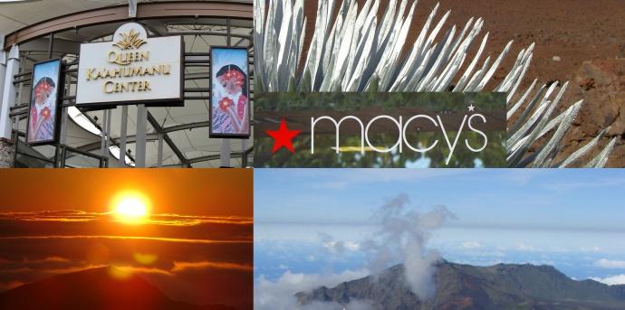 Macy's Haleakalā fundraising partnership. Photo montage by Wendy Osher.
