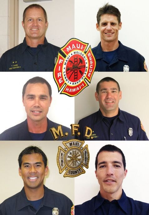 MFD promotion. Photos courtesy Maui Department of Fire and Public Safety.