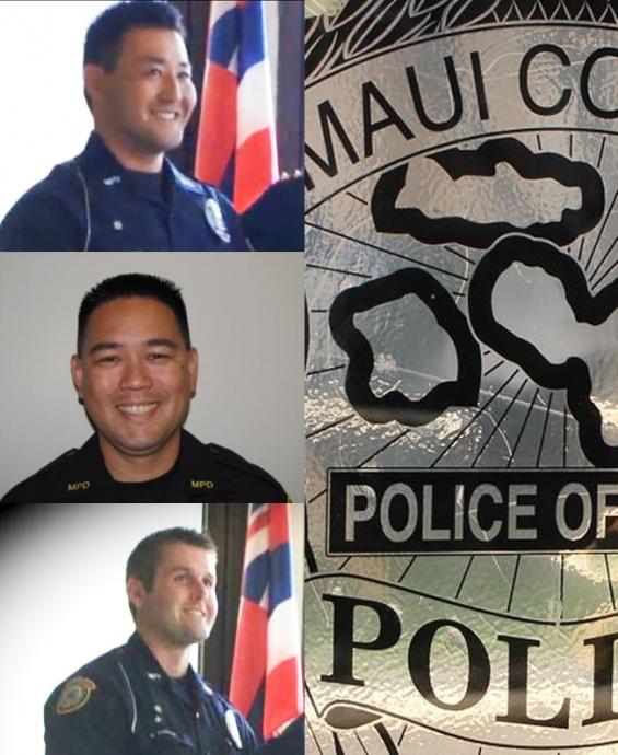 Officer Jun Hattori (top), Sergeant Harry Matsuura (middle), and Erik Losvar (bottom). File photos/graphics by Wendy Osher.