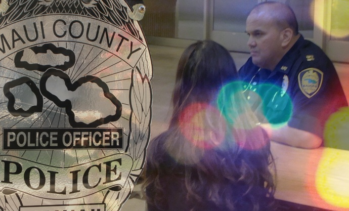 Maui police meeting. Photos/graphics by Wendy Osher.