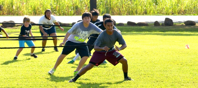 Athletes can train with Cody Nakamura at the weekly Hard Naks High Performance Speed Camps. File photo by Rodney S. Yap.