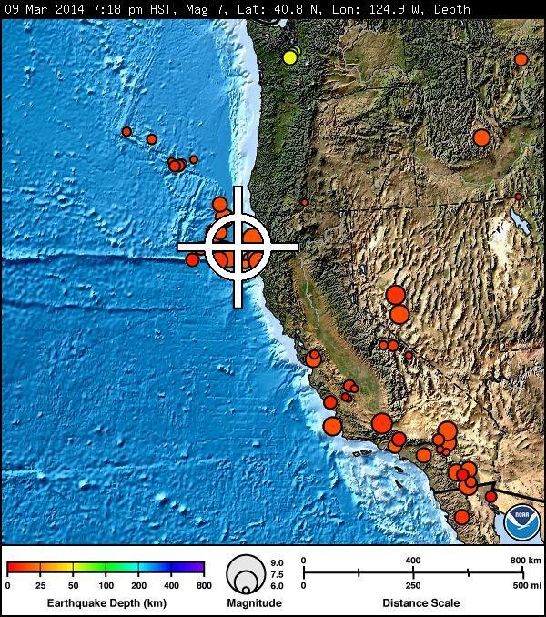 Image courtesy Pacific Tsunami Warning Center. March 9, 2014.