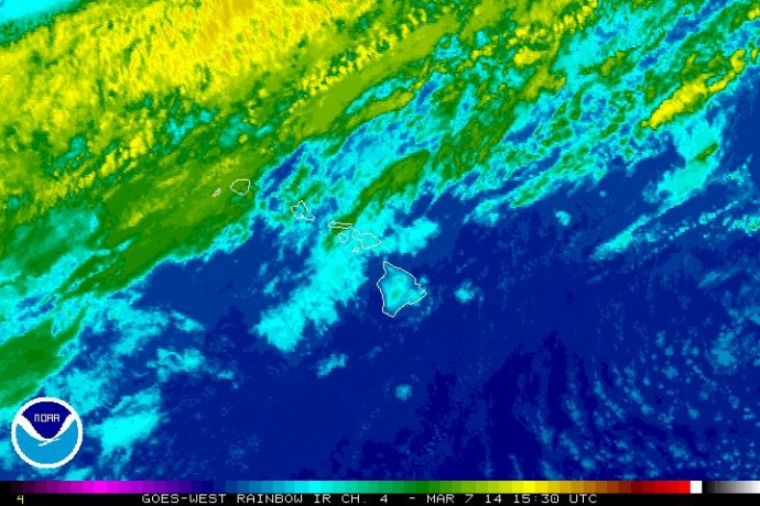 Satellite imagery courtesy NOAA/NWS, Friday, March 7, 2014, 5:30 a.m.