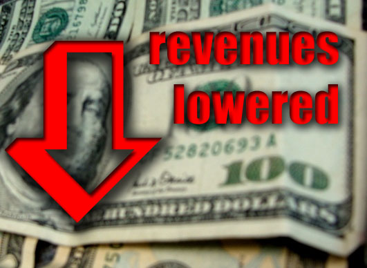 Hawaiʻi state revenues lowered. Graphics by Wendy Osher.