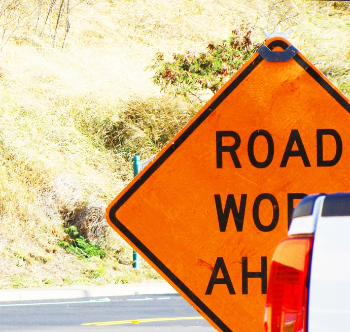 Road work ahead, file photo by Wendy Osher.