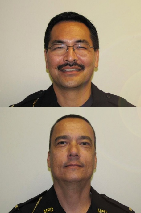 Scott Migita (top) and Ryan Rodrigues (bottom). Officer photos courtesy MPD.