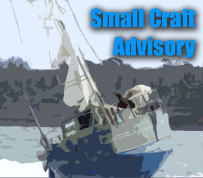 Small craft advisory, Graphic by Wendy Osher.