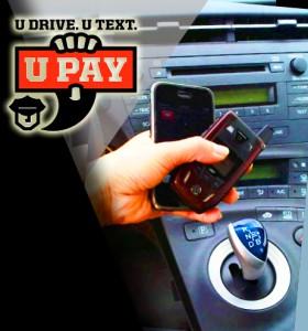 U Drive U Text U Pay. Logo courtesy National Transportation Safety Board. Image/graphics by Wendy Osher.