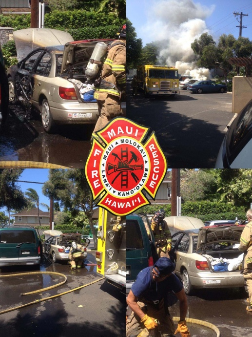 Vehicle fire at Paradise Gardens. Photos courtesy Sean Aquino.