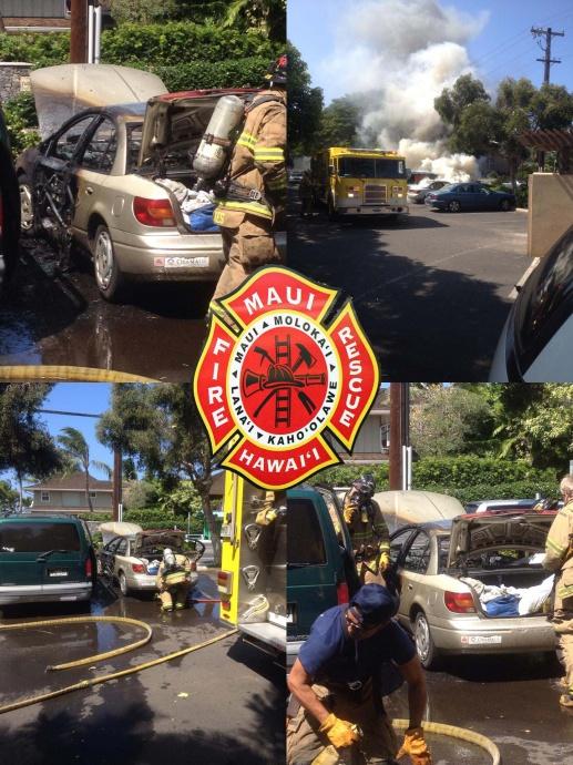 Vehicle fire at Paradise Gardens. Photos courtesy Sean Aquino.