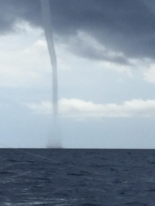 This photo was taken from a boat outside of Mākena at around 1:30 p.m. on Saturday, March 29, 2014. Photo courtesy Spencer Boomer.