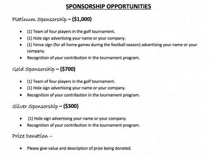 2014 Sponsorship
