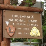 Haleakalā National Park sign. Photo by Wendy Osher.