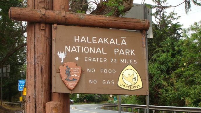 Haleakalā National Park sign. Photo by Wendy Osher.