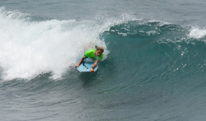 Semifinals of the boys bodyboarding Saturday at Ho'okipa Beach Park.