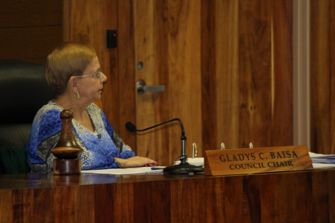 Council Chair Gladys Baisa, April 4, 2014. Photo by Wendy Osher.