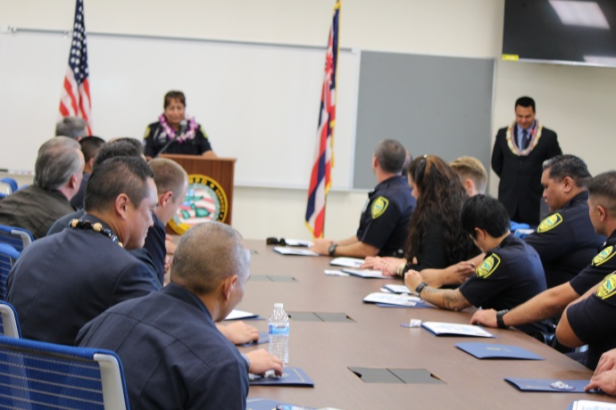 Maui Police Crisis Intervention Team graduation. Photo
