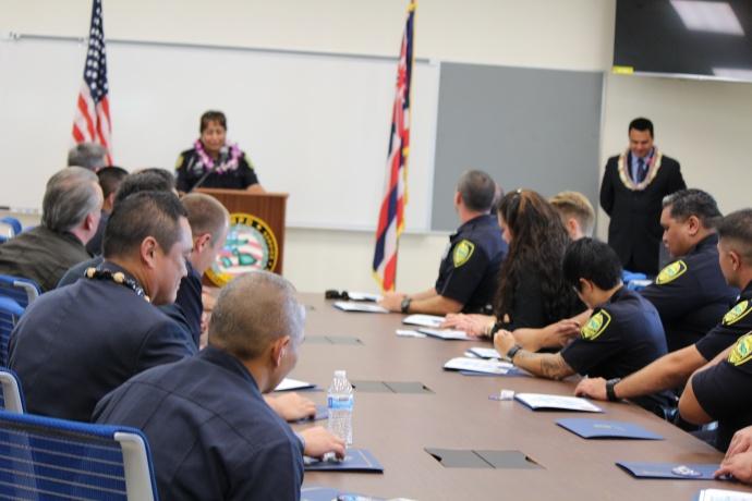 Maui Police Crisis Intervention Team graduation. Photo