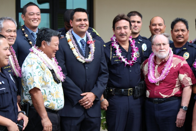 Maui Police Crisis Intervention team graduation.  Photo by Wendy Osher.