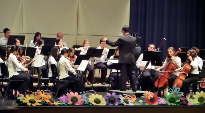 The Maui Youth Philharmonic Orchestra performs its 2013 Spring Concert under the direction of Mr. Lance Jo. Photo by Lois Whitney.