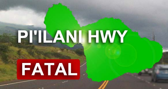 Piʻilani Highway fatality. Maui Now graphic.