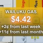 Wailuku gas graphic, Maui Now image.