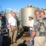 EPA Director Stephen Johnson (second from left) visits Pacific Biodiesel's Maui plant in 2006 with other regional directors. Courtesy photo.