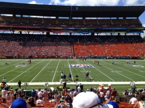 A view from the lower level of Aloha Stadium during the 2012 NFL Pro Bowl. File photo by Josh Pacheco.