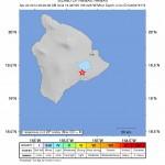 Map of April 22, 2014 Volcano earthquake, courtesy Hawaiian Volcano Observatory/USGS.