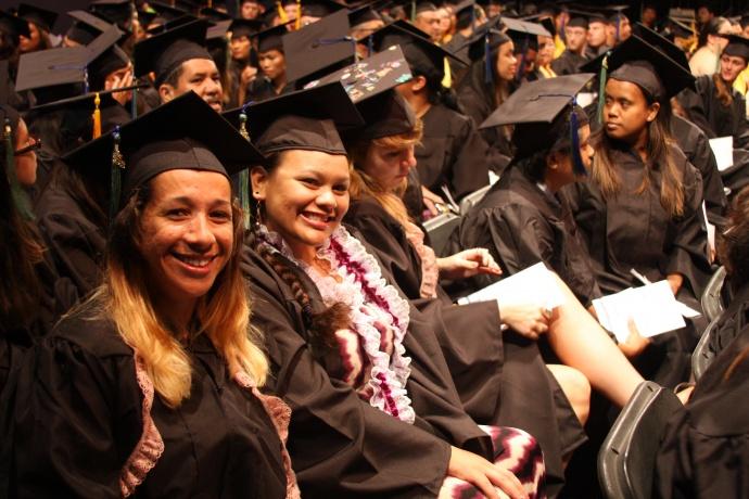 Graduates after the 2013 UH Maui College Commencement Ceremony. File image courtesy UHMC.