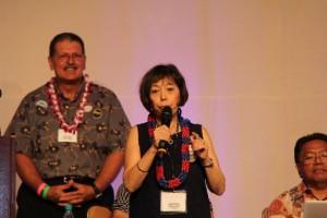 Stephanie Ohigashi, Chairperson, Democratic Party of Hawai'i. Photo by Troy Hashimoto.