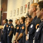 Maui firefighters fight for restoration of budget funds.  Photo by Wendy Osher.