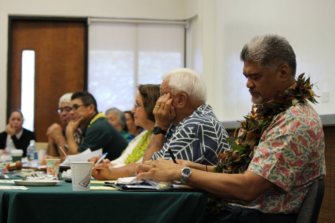 OHA Board of Trustees meeting, Maui 5/15/14. Photo by Wendy Osher.