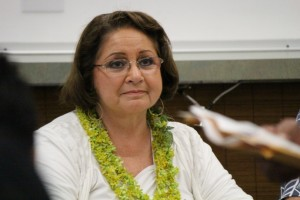 Maui OHA Trustee Carmen Hulu, 5/15/14. Photo by Wendy Osher.