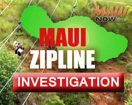 Maui Zipline incident.  Maui Now graphic.