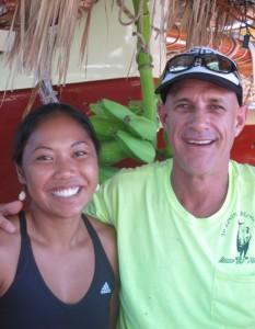 Navigator Kala Baybayan and Captain Timi Gilliom Gilliom.  Photo courtesy Kamaʻemaʻe Smith.