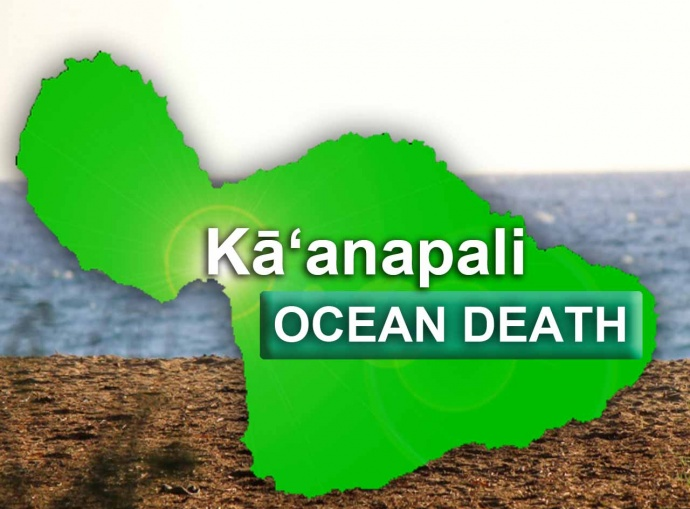 Kāʻanapali, miscellaneous accident. Maui Now graphic.